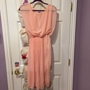 Peach colored vintage style dress